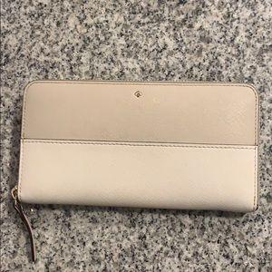 Kate Spade White and Tan Wallet